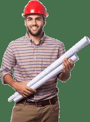 Concrete contractor holding construction plans Hayward CA