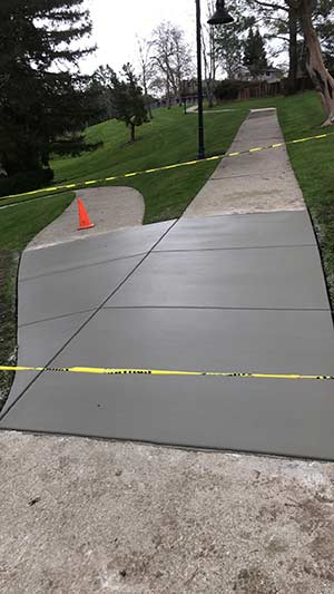 Concrete flatwork in a Hayward California park
