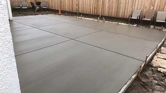 Concrete Slab in backyard of Hayward California home