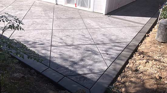 stamped concrete patio in Fremont California
