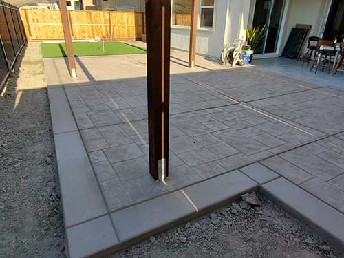 stamped concrete patio in Hayward California