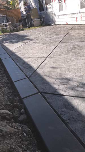 stamped concrete patio in Oakland California